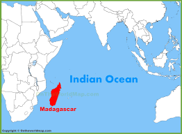 Map Of Madagascar Madagascar Location On The Indian Ocean Map