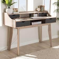george oliver glastenbury mid century modern writing desk with hutch reviews wayfair
