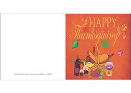 happy thanksgiving day card free printable papercraft templates