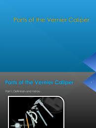 parts of the vernier caliper tools scientific observation