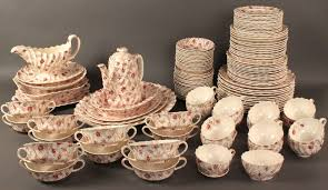lot 138 copeland spode dinnerware rosebud chintz pattern 121 pcs