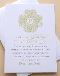 best 25 funeral thank you notes ideas on sympathy