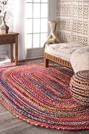 Oval Area Rugs Nuloom Casual Handmade Braided Cotton Oval Area Rug 3