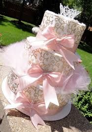 Pink And Gold Baby Shower Decorations by The