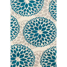 Modern Contemporary Rugs World Rug Gallery Modern Floral Design Blue 5 Ft X 7 Ft Area Rug