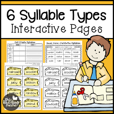 6 syllable types resource pack