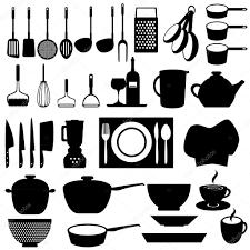 Kitchen Utensils Kitchen Utensils And Tools U2014 Stock Vector Soleilc 7277796