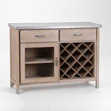 buffets de cuisine buffet de cuisine en bois et zinc 1 porte 2 tiroirs l111cm ernest en