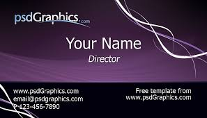 Business Card Layout Psd Purple Business Card Template Psdgraphics