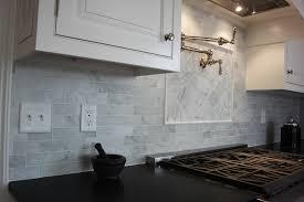 Carrara Marble Subway Tile Kitchen Backsplash Remarkable Plain Carrara Marble Tile Backsplash 7sf Carrara Subway