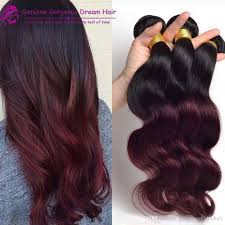 Hair Extension Malaysia by Cheap Fashion Ombre Hair Extensions Dark Wine 99j Body Wave Two