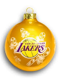 purple and yellow basketball pattern ceramic ornament trees