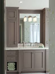 Bathroom Vanity With Side Cabinet Popular Of Bathroom Side Cabinets With Vanity Side Cabinets Houzz