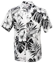 hibiscus mens hawaiian aloha shirt in white mens hawaiian