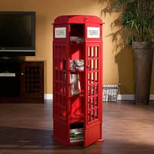 london phone booth bookcase amazon com sei phone booth cabinet kitchen dining