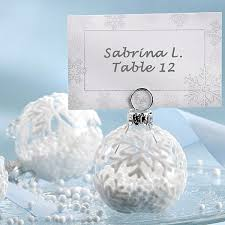 winter themed wedding place card holders christmas placecard holders