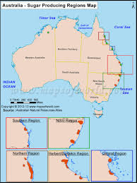 Austrailia Map Sugar Production In Australia Map