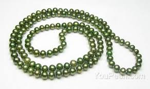 round freshwater pearl necklace images Freshwater near round green opera n rope pearl necklace on sale 5 jpg