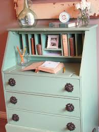 Repurposed Secretary Desk Rustic Living Cool As Mint Secretary Desk Makeover You Would