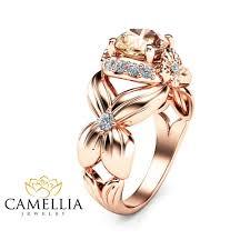 flower design rings images Flower design morganite engagement ring 14k rose gold morganite jpg