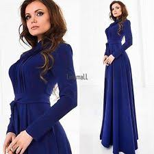 chiffon long sleeve casual solid maxi dresses for women ebay