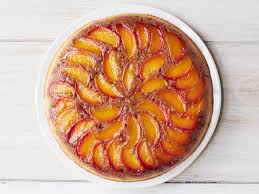 peach bourbon upside down cake recipe food network kitchen