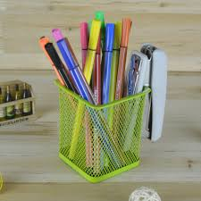desk pencil holder pen and pencil holder on desk stock images