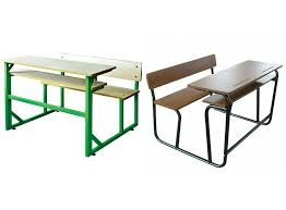 Modern School Desks Strong Steel Furniture Combo Student Table And Chairs School