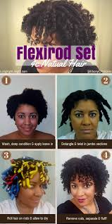 hair growth with wet set hairstyle wash day flexi rod set on my natural hair l4l roller rod set