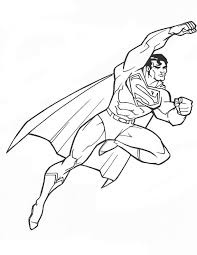 flying superman coloring sheet printable free coloring book picture