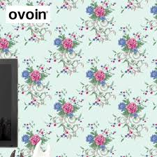 Shabby Chic Wallpapers by Colorful Pink And Green Vintage Floral Wallpaper Roll Retro Shabby