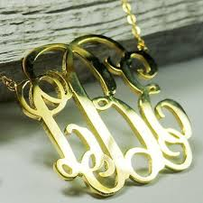 monogram jewelry cheap 3 inch monogram necklace 18k gold from buymonogramnecklace on