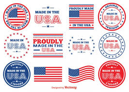 made in usa badges vector free