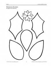poinsettia coloring pages template for felt poinsettia flower coloring home