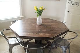 diy round kitchen table hexagon dining table diy round wooden table for 110 shanty 2 chic