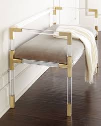 Benches At End Of Bed by Designer Benches Mirrored U0026 Sheepskin Benches At Neiman Marcus