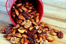spiced mixed nuts with ancho chile lime rosemary