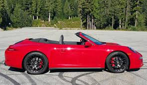 red porsche convertible 2015 porsche 911 carrera 4 gts cabriolet road test review