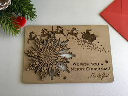 brown christmas cards christmas cards personalised wooden greeting cards wood