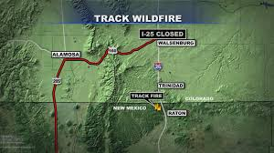Wildfire Map Wildfire Near New Mexico Colorado Border Doubles In Size Cbs Denver