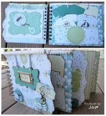 baby boy photo album baby boy scrapbook journal mini album kit or premade newborn gift