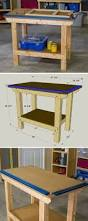 Rolling Work Bench Plans Mobile Workbench With Built In Table U0026 Miter Saws Mobile