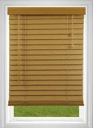 amazon com corded 2 inch faux wood blind white 34w x 36l home