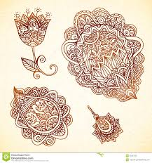 Indian Style - ornate vintage vector elements in indian style royalty free stock