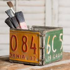 upcycled license plate wall coat rack 34 75
