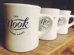 rustic coffee mugs the nook coffee house