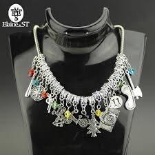 choker necklace with charms images Free shipping stranger things charm choker necklace pendants jpg