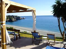 nerja house in the beach in the nature reserve cliffs of maro