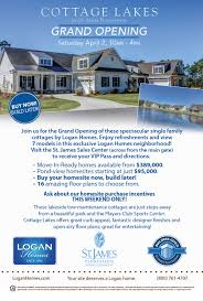 cottage lakes at st james plantation grand opening