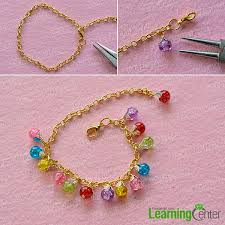 beaded chain bracelet images Pandahall tutorial on how to make colorful crackle glass beaded jpg